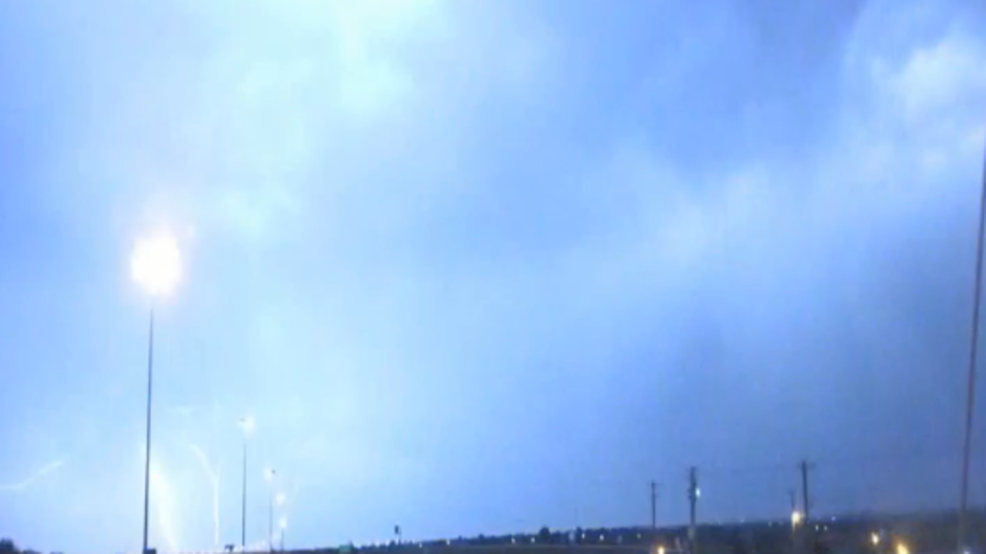Inside the Storm: Rare upward lightning spotted in OKC during storms