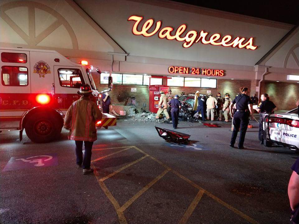 Westwood Walgreens shut down after woman in SUV smashes into building (Mike Hauser / WKRC)