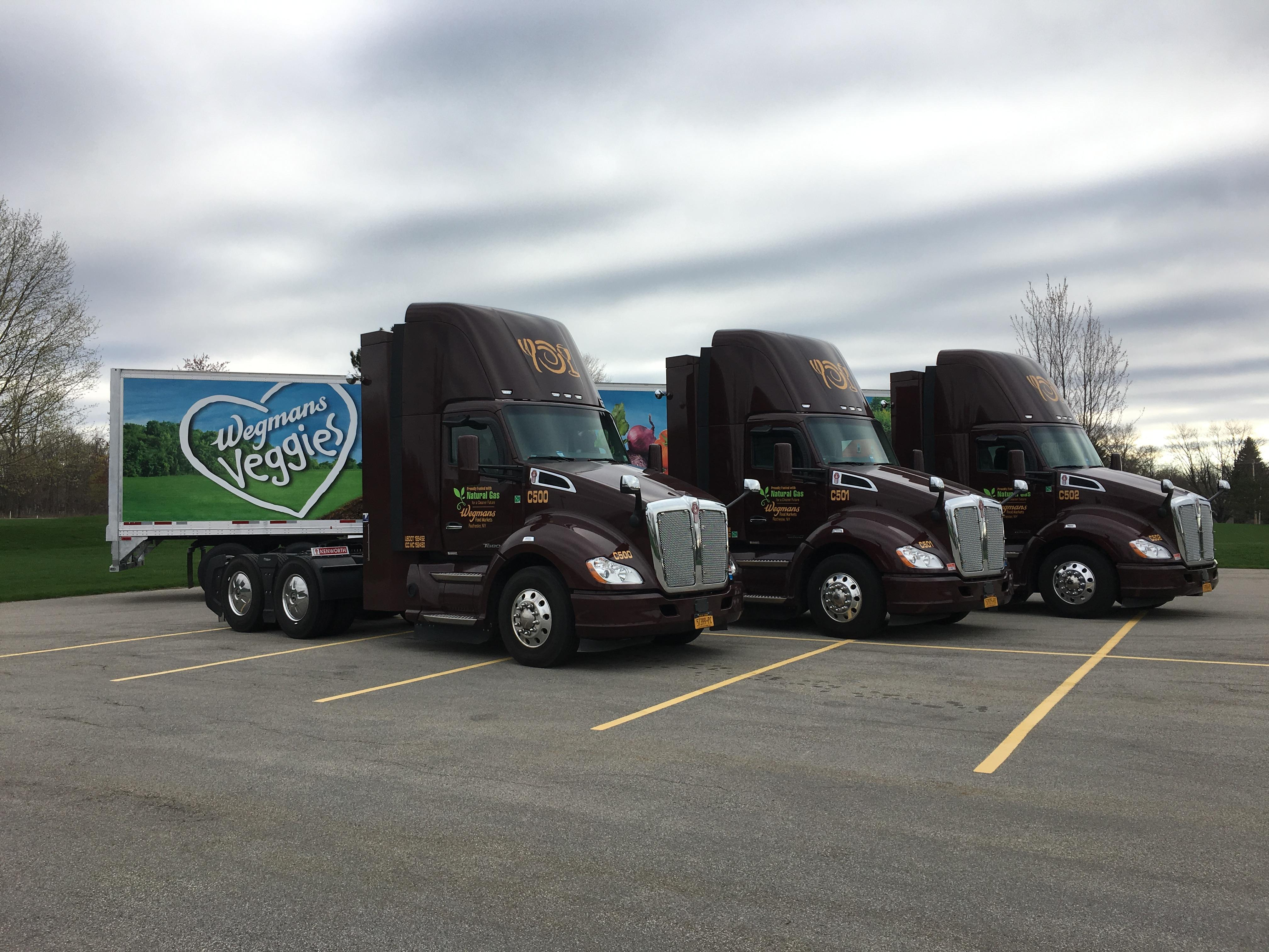 Wegmans is adding 15 trucks in the Rochester area that run on natural gas.