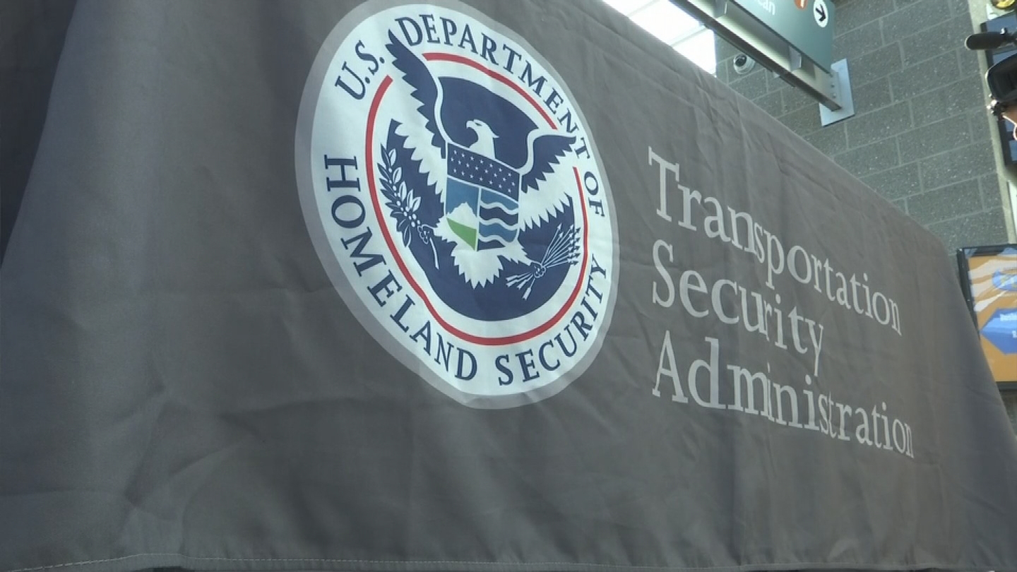The Transportation Security Administration showed off prohibited items that were confiscated at security checkpoints at T.F. Green Airport.
