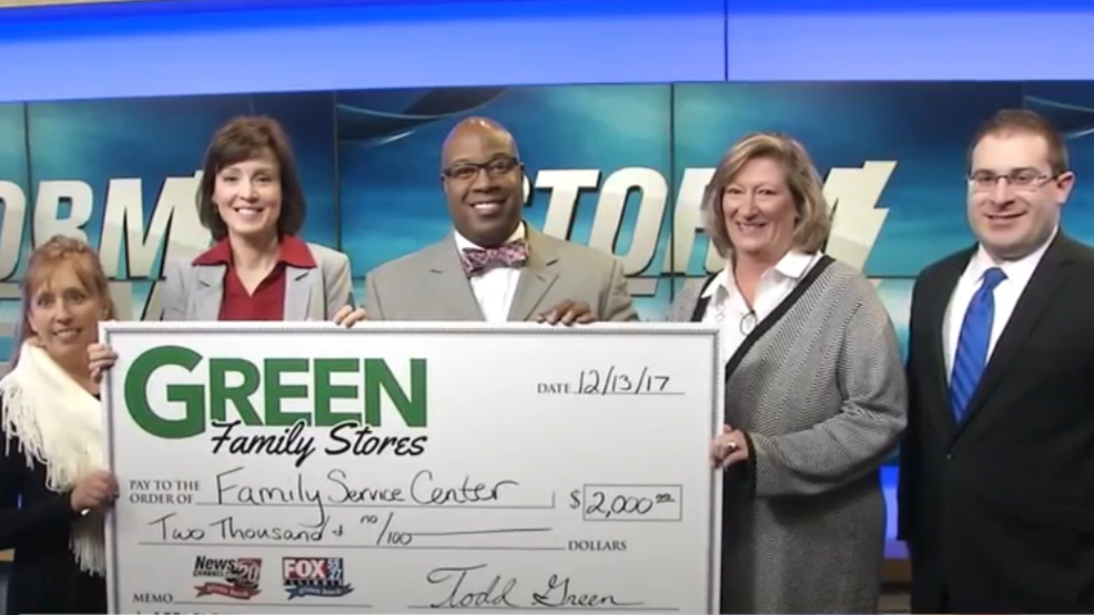 Green Family Stores >> Storm Team Green Family Stores Raises 2k For Family Service Center