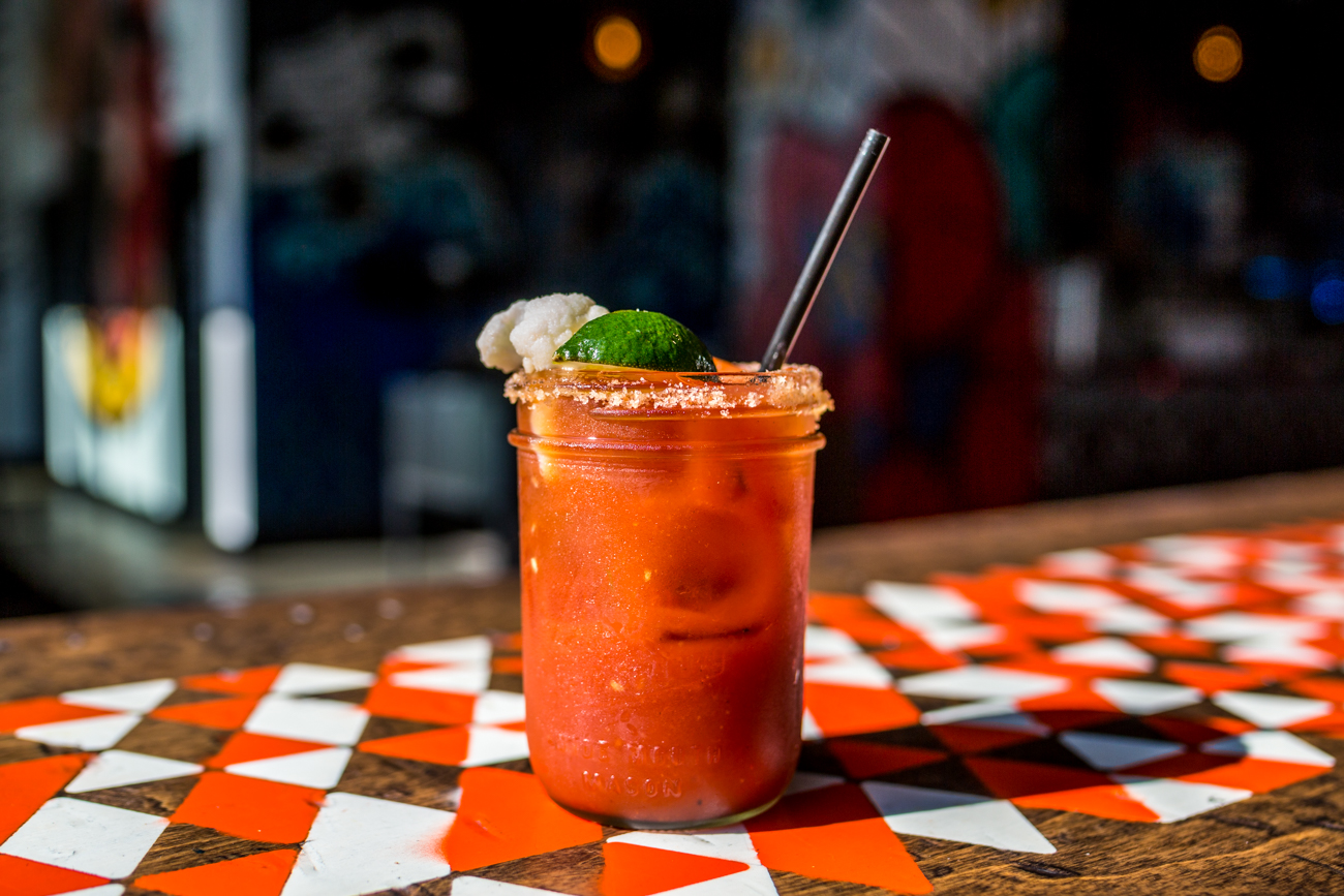 Bloody Mary: vodka or blanco tequila, house Bloody Mary mix, salt rim, pickled cauliflower, and jalapeño / Image: Catherine Viox // Published: 6.9.19<p></p>