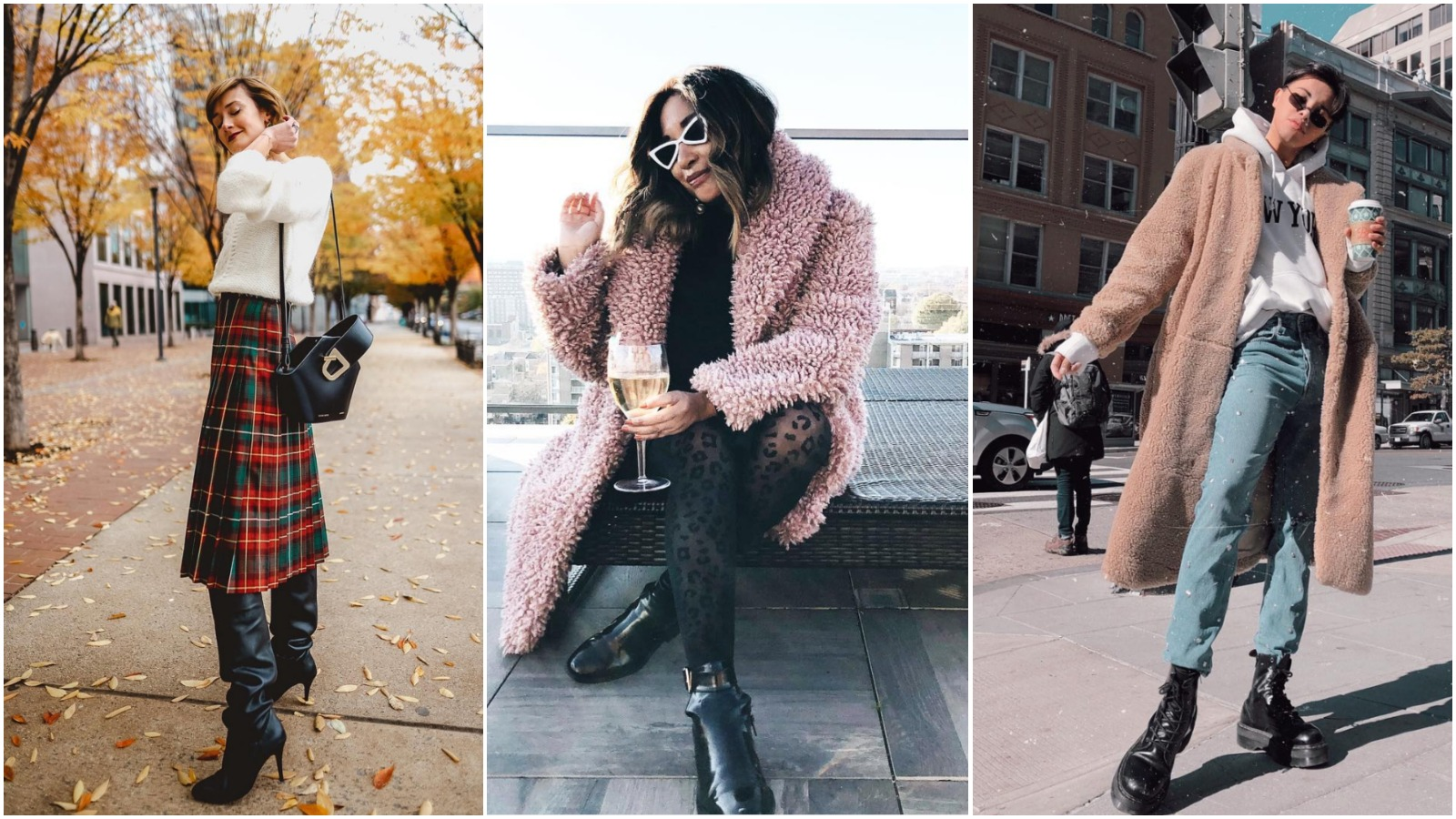 The forecast this winter is calling for miserably cold weeks and plenty of snow, but there's plenty of fashion to be found! Whether you're donning your best duds under your parka or braving the cold for fashion's sake, here is how 18 local fashion bloggers are looking good even as the temperatures drop.{ }