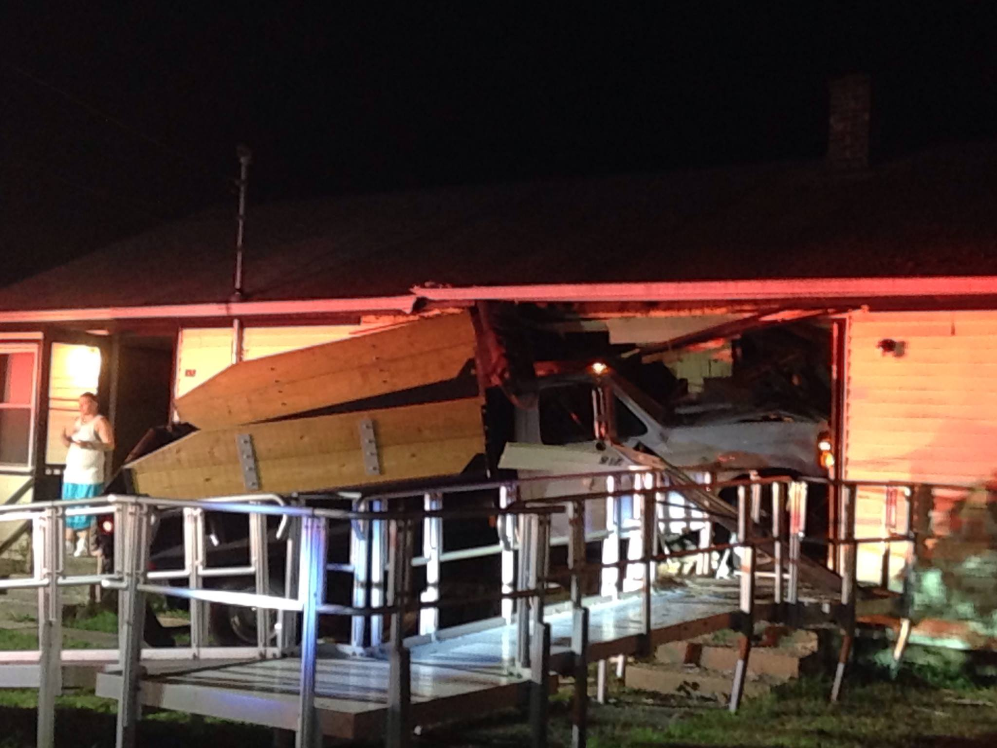 Truck crashes into South Kingstown home. (Submitted photo to NBC10)