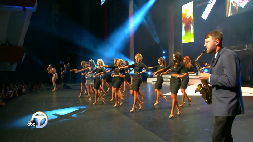Opening number at the Miss Arkansas pageant Saturday night. (Photo: KATV)