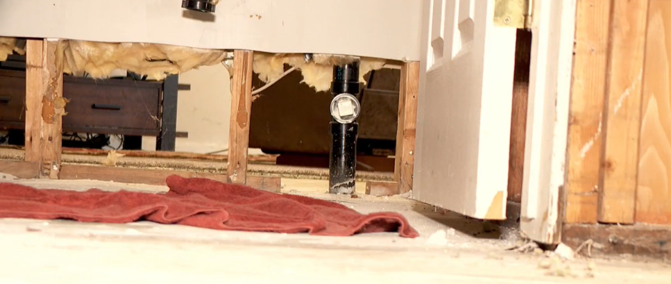 When the sewer line at the Rosewood Manor became clogged, it became a disgusting problem for Lorie Kerr, whose apartment sits at the lowest elevation. (Photo: KUTV)