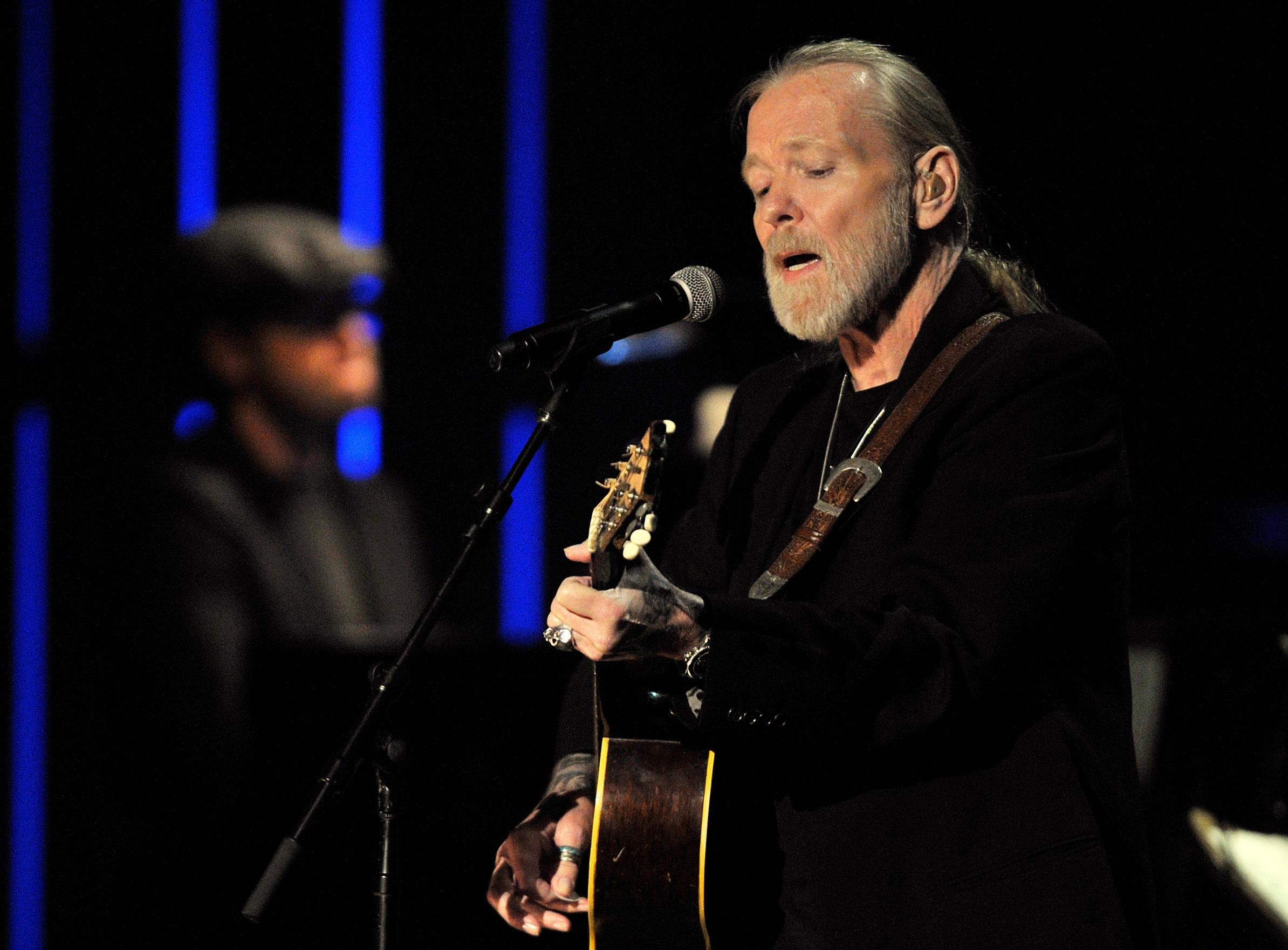 FILE - This Oct. 13, 2011 file photo shows Gregg Allman performs at the Americana Music Association awards show in Nashville, Tenn. On Saturday, May 27, 2017, a publicist said the musician, the singer for The Allman Brothers Band, has died. (AP Photo/Joe Howell, File)