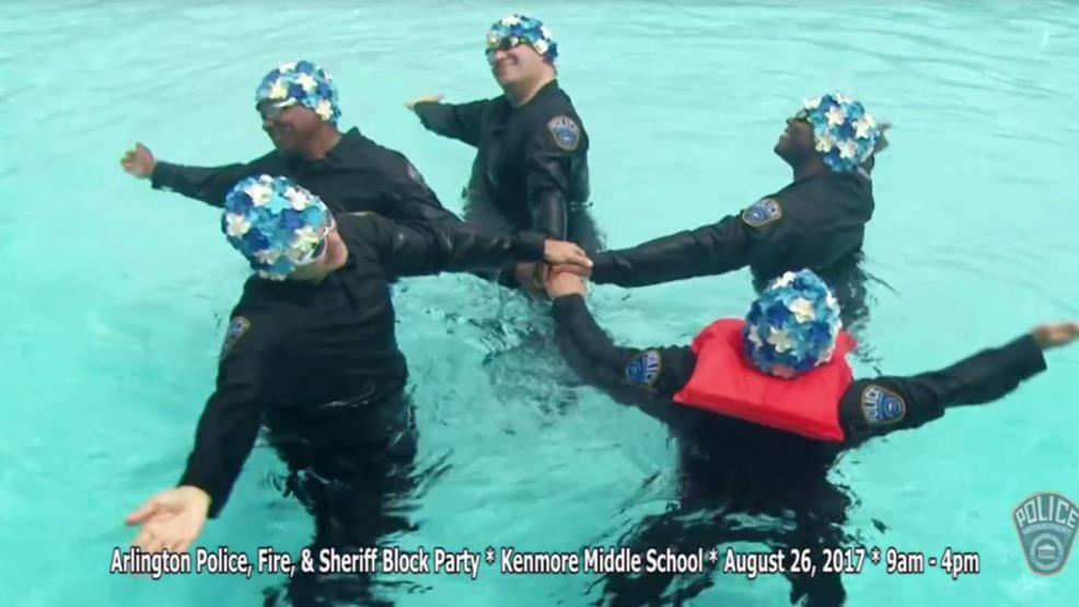 Arlington County Officers Go Viral With In Uniform Synchronized Swimming Pool Video Krcg