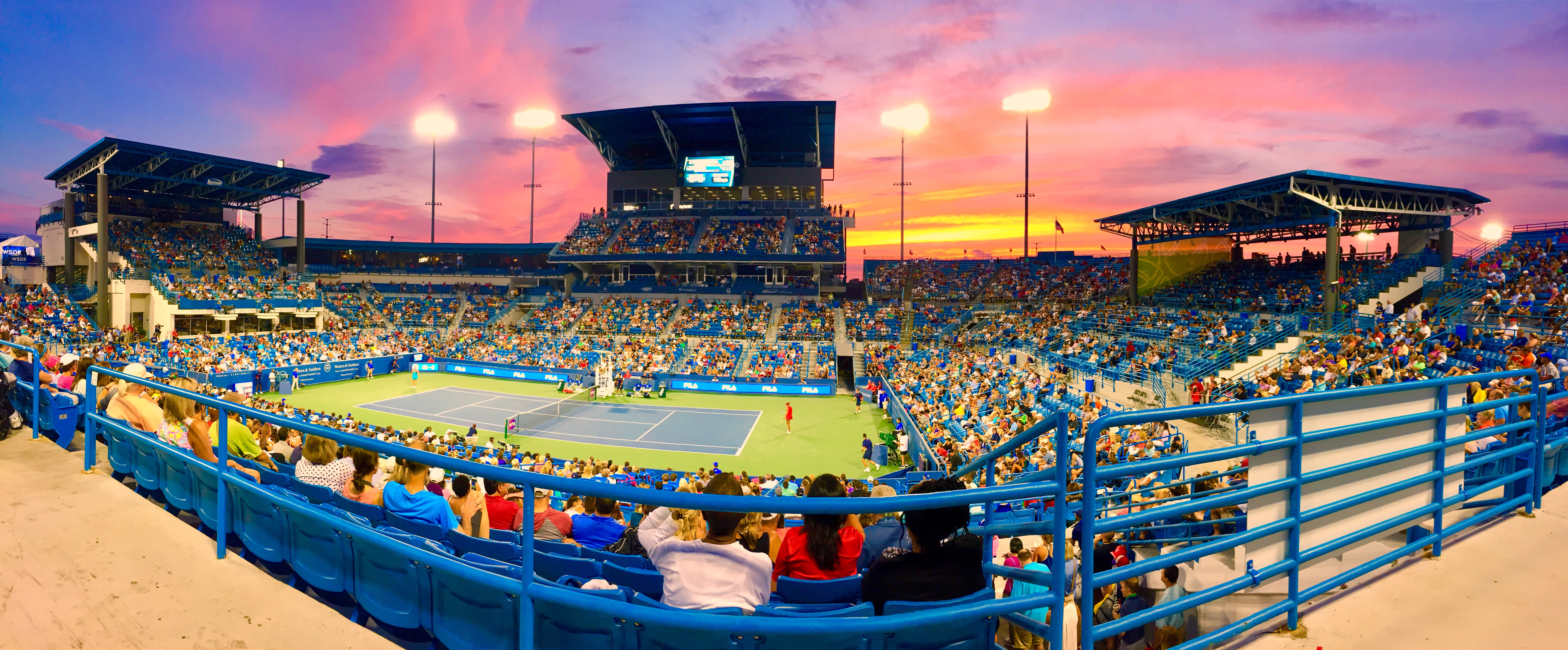 "Pictured: The sunset from Monday night at the Western and Southern Open from the gallery ""Photo Highlights From The Western and Southern Open"" / Image: Leah Zipperstein // Published: 12.31.17"