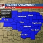 Severe weather watches, warnings issued for Green Country