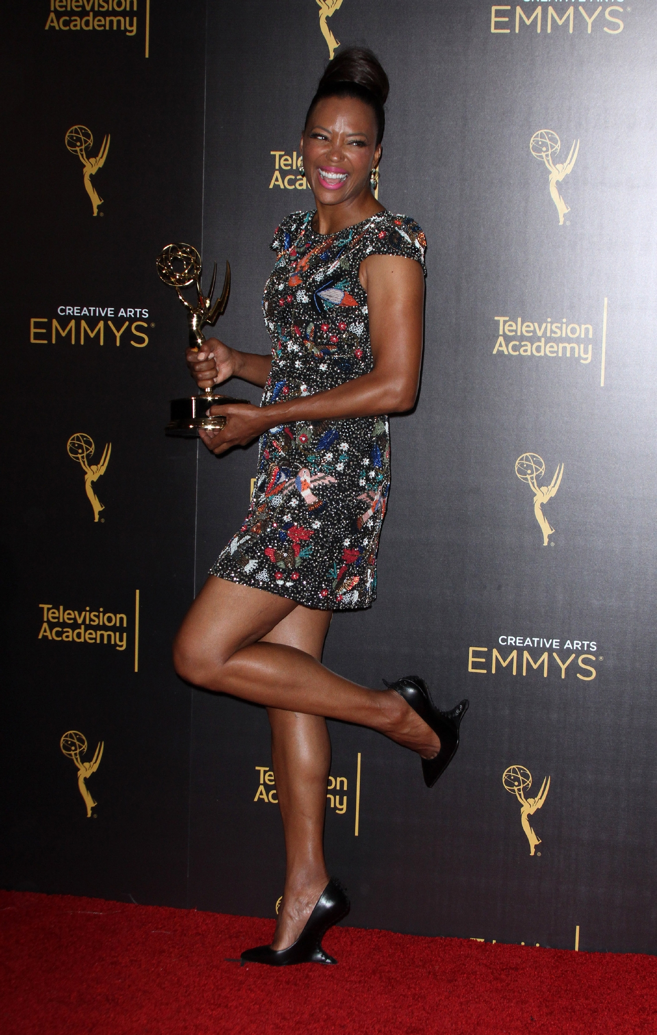 Creative Arts Emmy Awards 2016 Press Room - Day 2 held at the Microsoft Theatre                                    Featuring: Aisha Tyler                  Where: Los Angeles, California, United States                  When: 12 Sep 2016                  Credit: Adriana M. Barraza/WENN.com