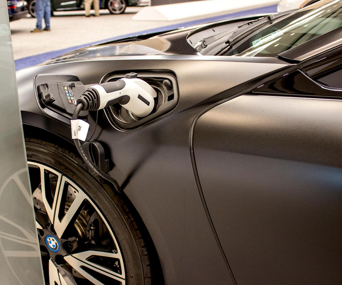 2019 BMW i8 Coupe - The Portland International Auto Show began at the Oregon Convention Center on Jan. 25, 2018. The event drew prospective buyers and others who enjoyed looking at and comparing vehicles. Photo by Amanda Butt