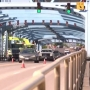 One traffic lane on Blue Bridge for 40th Annual Seaport River Run