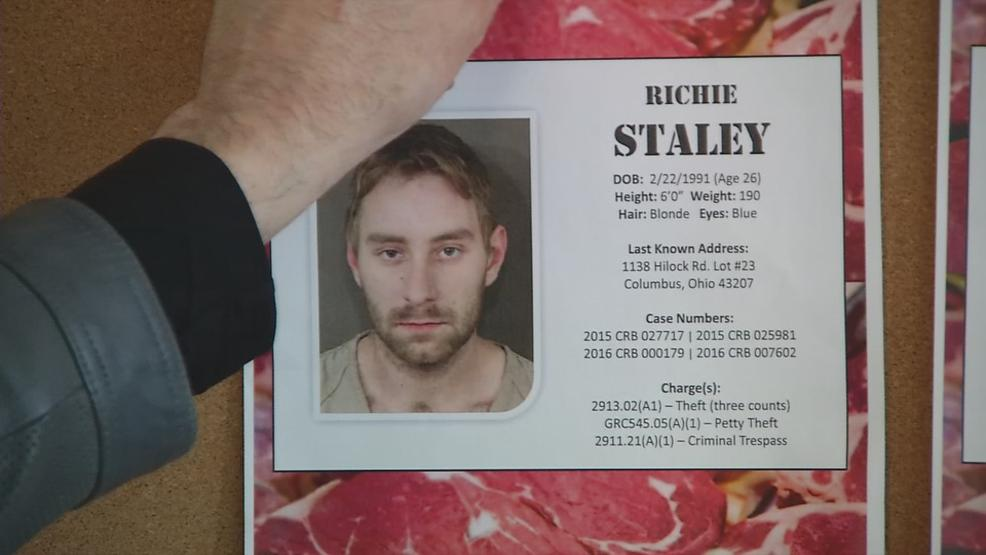 Richie Staley was also apprehended after allegedly taking more than $300 worth of Angus whole tenderloin. (Courtesy: Columbus Division of Police)