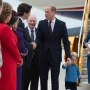 The Royals arrive in British Columbia