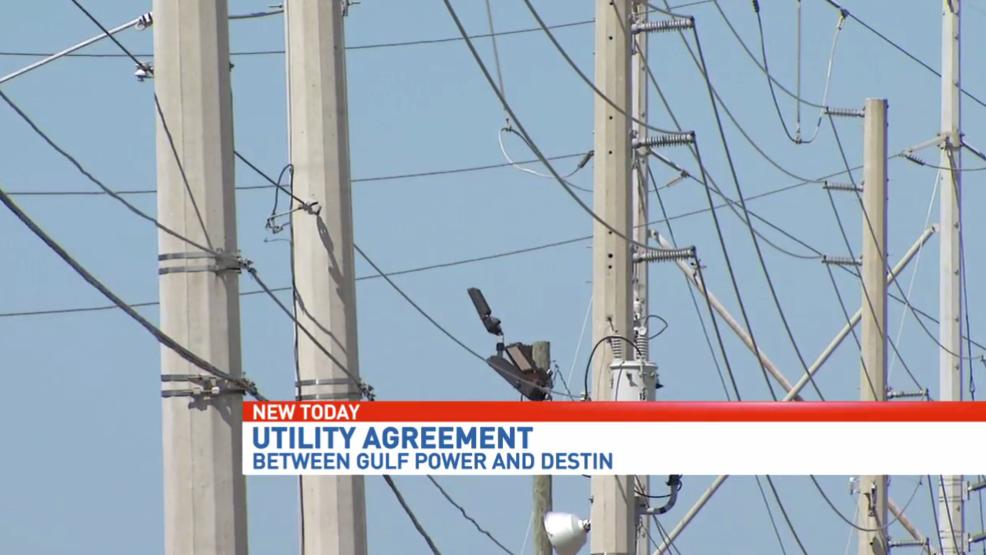 Utility Agreement Between Destin Gulf Power Up For Renewal Wear