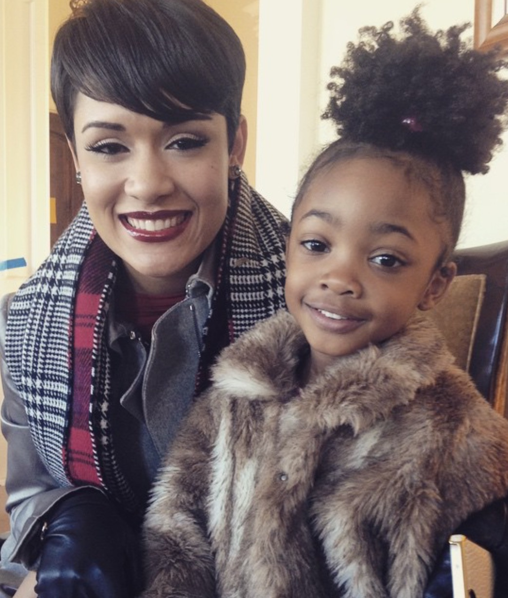 Leah Jeffries with Gracce Gealey who plays Anika Calhoun on Empire.