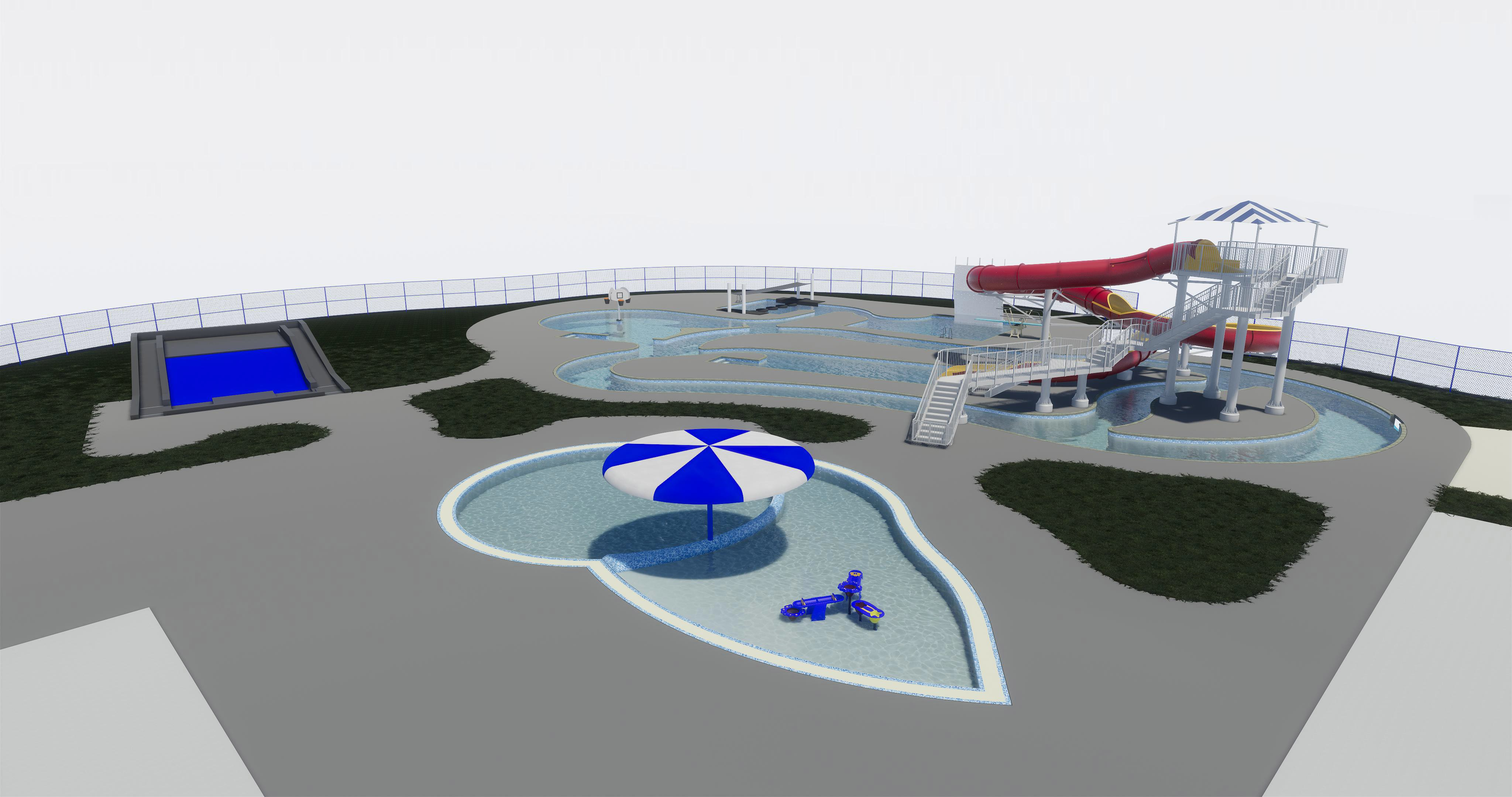 A rendering of one of the three options for a new aquatic center in De Pere. (Photo credit: City of De Pere)