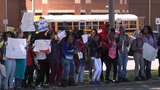 Students at Tuscaloosa Central High participate in National School Walkout