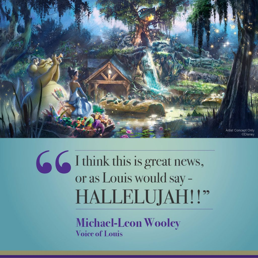 "Quote from Michael-Leon Wooley, voice of Louis in Disney's ""Princess and the Frog."" (Disney)"