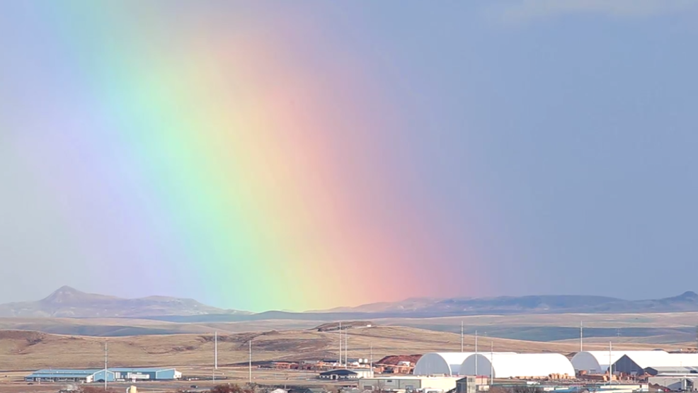 Inside the Storm: Vibrant rainbow appears in South Dakota after first spring storms