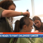 Shaving heads at University of Alabama Children's Hospital to fight childhood cancer