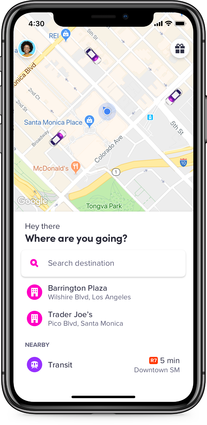 Riders who wish to use Lyft Scooters can use the app to locate and reserve  nearby scooters. (Image: Courtesy Lyft)