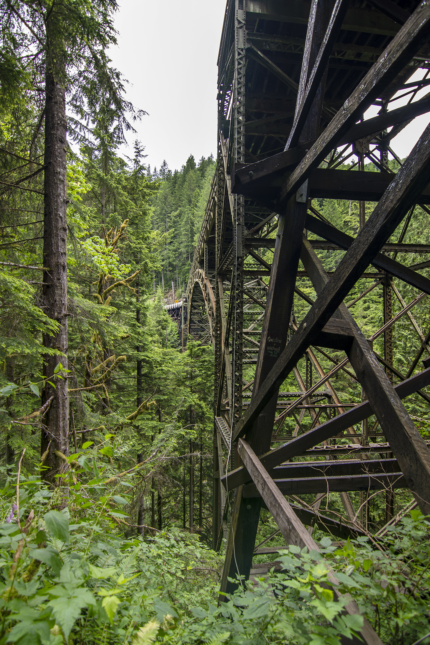 Fairfax Bridge.{ } As one of the three remaining three-hinged arch bridges in Washington state, the Fairfax Bridge, built in 1921, is a rare site to see. Get a great viewpoint by taking the Foothills Trail that leads underneath the bridge. (Image:{ }Rachael Jones)