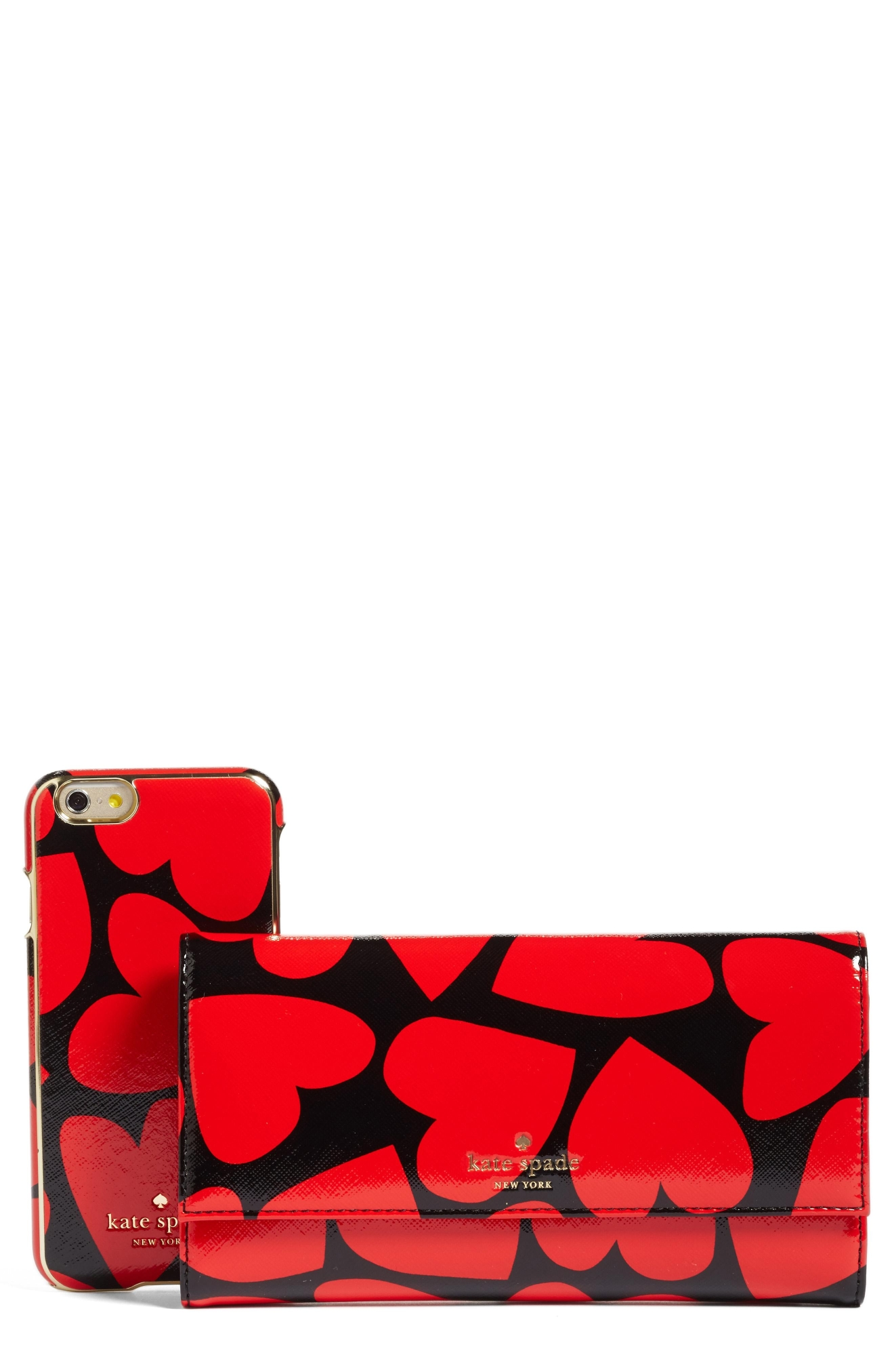 Kate Spade New York Scattered Hearts iPhone 7 leather wallet, $158 (Nordstrom)