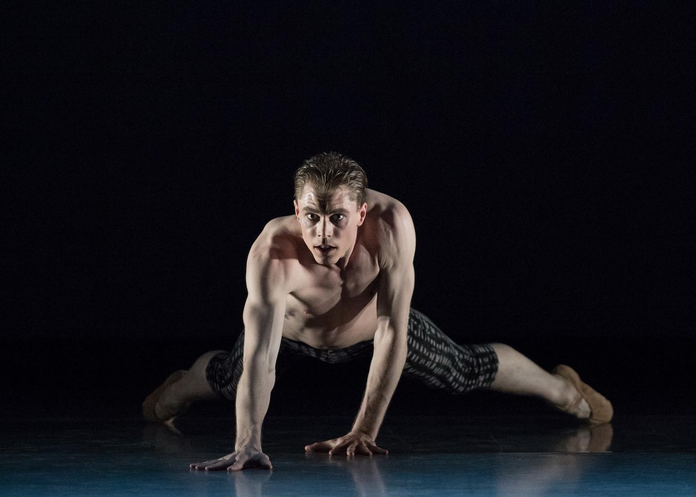 "James Cunningham in ""Karass,"" with choreography by Heather Britt / Image: Peter Mueller // Published: 4.21.17"