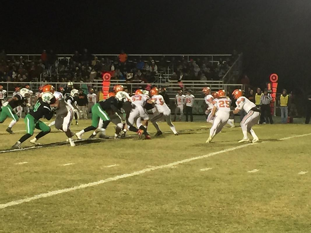 Bishop McGuinness faced off against Tahlequah on Friday, Nov 18, 2016 the second week of the high school football playoffs. (Scott Noland / KOKH)