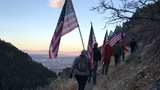 North Ogden residents, fly American flag over Coldwater Canyon for Veterans Day