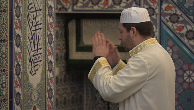 Roland Vishkurti says the structure where he prays is historic, &quot;we are the largest mosque here in Malmö and the first mosque here in Scandinavia, it's a part of Sweden's history and the Swedish Society.&quot; (Sinclair Broadcast Group)<p></p>