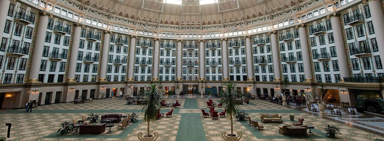 "STORY: ""One Of The Nation's Most Opulent Hotels Is Just A Short Drive Away"" / ADDITIONAL NOTE: This is the West Baden Springs Hotel, which is located in Indiana. / IMAGE courtesy of the hotel / Published: 12.25.16"