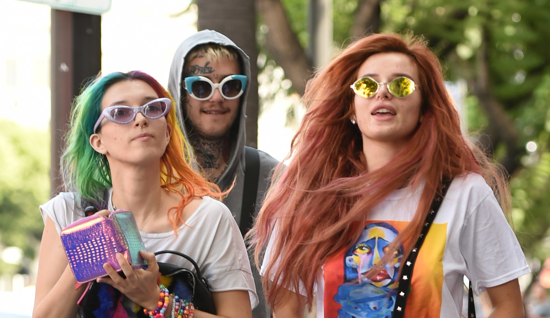 Bella Thorne meets Lil Peep to do some shopping in Hollywood  Featuring: Bella Thorne, Dani Thorne, Lil Peep Where: Los Angeles, California, United States When: 14 Sep 2017 Credit: WENN.com