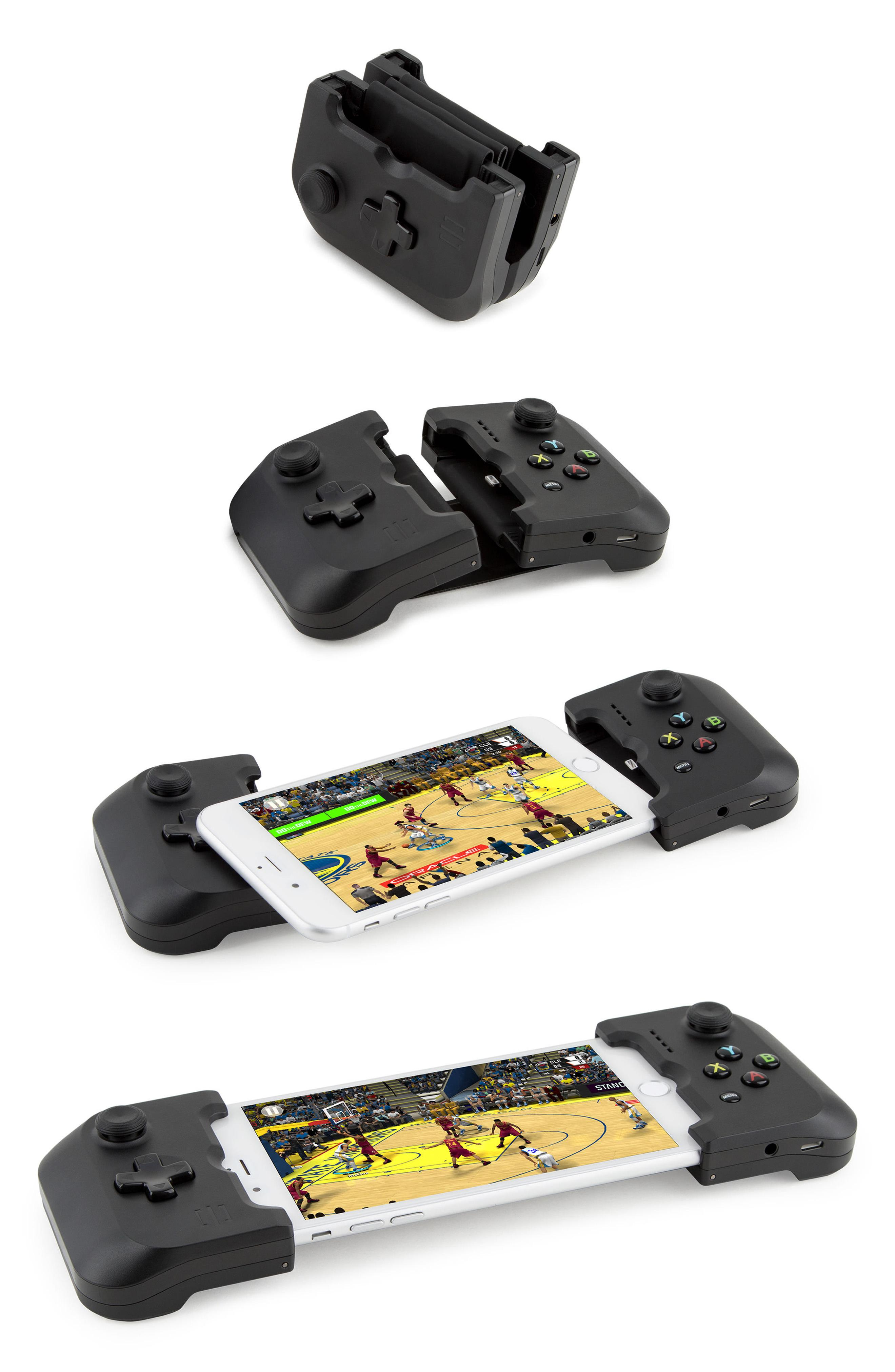 "GAMEVICE GAME VICE LIGHTNING CONNECTED FOR IPHONE ($99.95). Nordstrom just launched their Pop-In@Nordstrom called ""GET'S WIRED"" with more than 125 tech products both in store and online. The selection has everything from underwater drones, 3D printers, wireless ear buds, Polaroid cameras, and more. (Image courtesy of Nordstrom)"