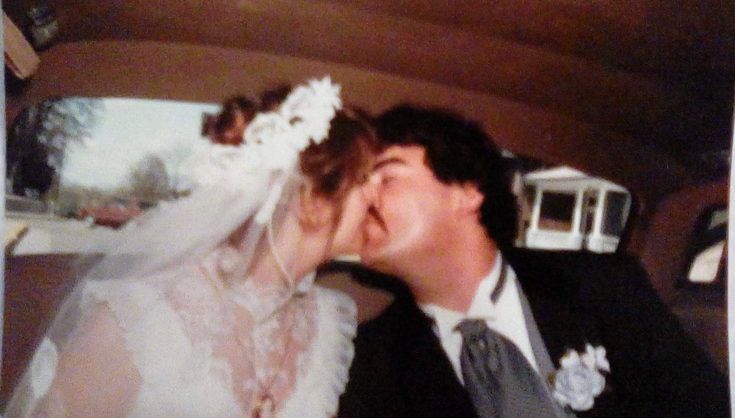 Jeannine Schaeffer when she married her now husband Pat. (Photo courtesy of Jeannine Schaeffer)
