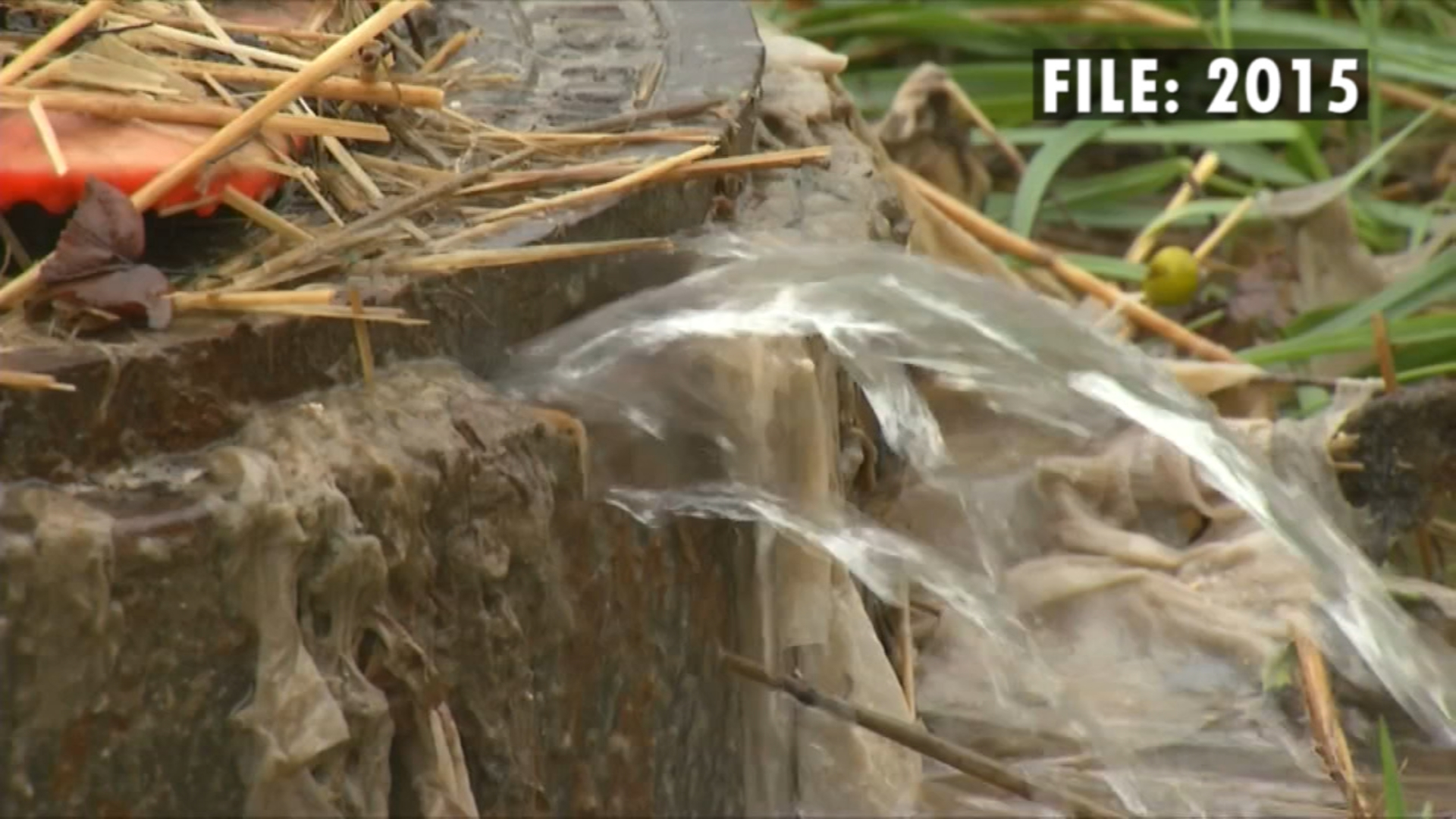 WLOS has covered sanitary sewer overflows in Brevard for years. (Photo credit: WLOS)