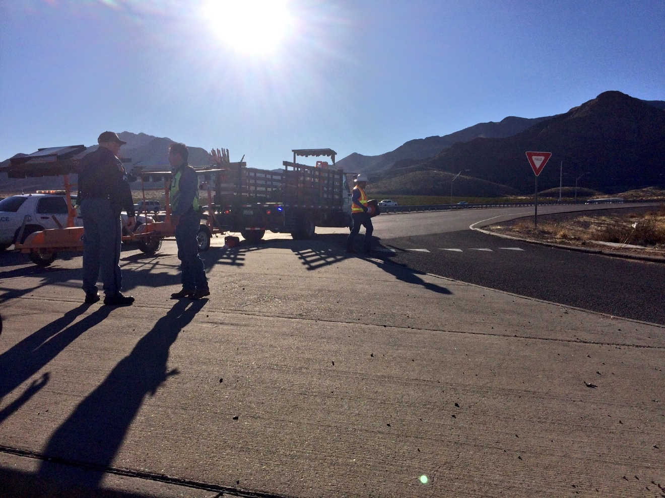 Two people were injured in a crash on Transmountain Road on Feb. 16, 2017. Credit: KFOX14 / CBS4
