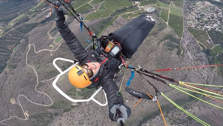 A quadriplegic paraglider touring the country who is helping kids with disabilities had his trailer stolen that he calls &quot;home&quot;. (Photo courtesy Joe Stone)<p></p>