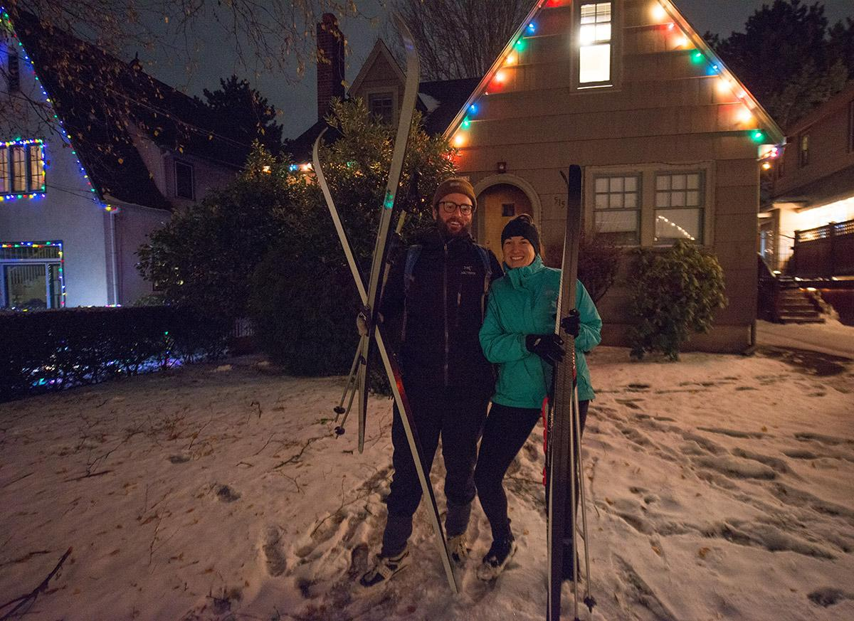 The annual light displays on Portland's Peacock Lane opened under a blanket of snow on Thursday. The Rose City tradition runs through December 31 but the street is strictly for pedestrians until Saturday, Dec. 17. Bundle up and remember; the street is slick! (KATU photo - December 15, 2016 by Tristan Fortsch)