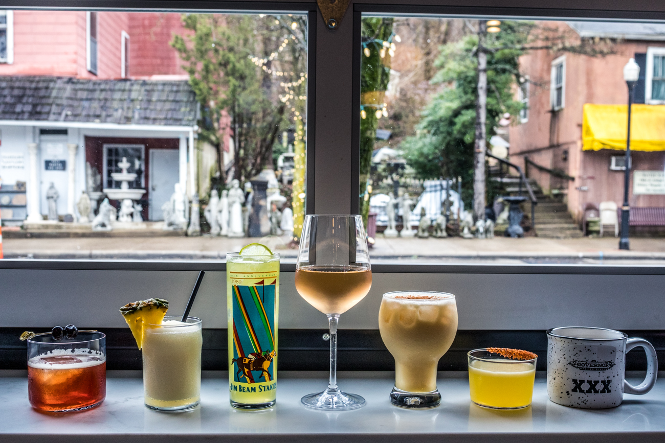 The cocktail lineup: Malone and Hyde, Daddy Chill!, Celery Man, Rose, House of Pain, Tacocat, and the Cold Toddy / Image: Catherine Viox{ }// Published: 7.3.20
