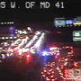 2 crashes with 5 vehicles shuts down I-695 near Perring Pkwy