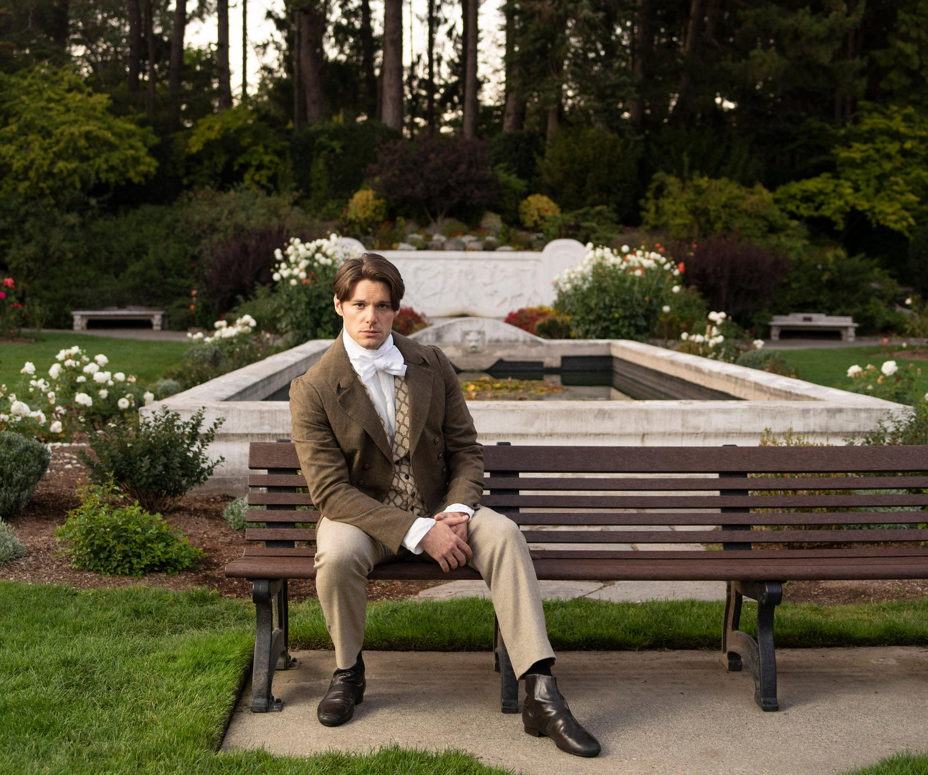 Steven Good stars as Mr. Darcy in 'Austen's Pride' at The 5th Avenue Theatre (Photo Credit: Mark Kitaoka)