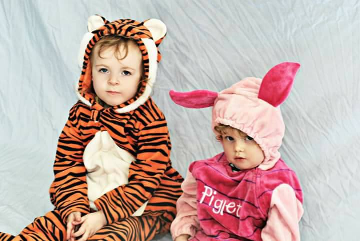 Tigger and Piglet just relaxing before heading out to get their candy. Submitted by Emily Ann McDonough