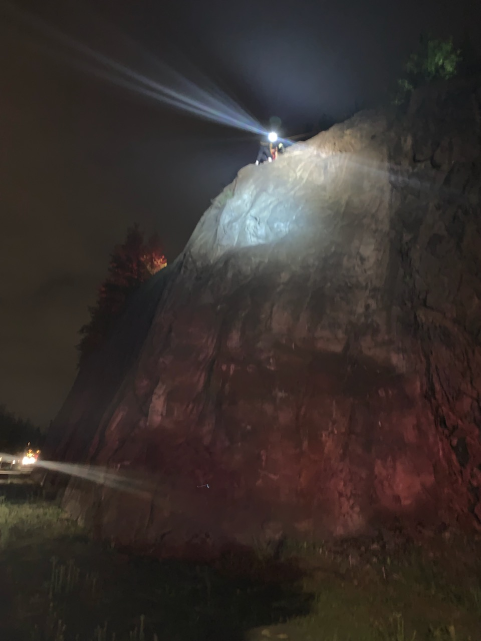 Vancouver Fire Department and a regional technical rescue team rescued a teen from a cliff on May 2, 2019. Photo courtesy Vancouver Fire Department{ }