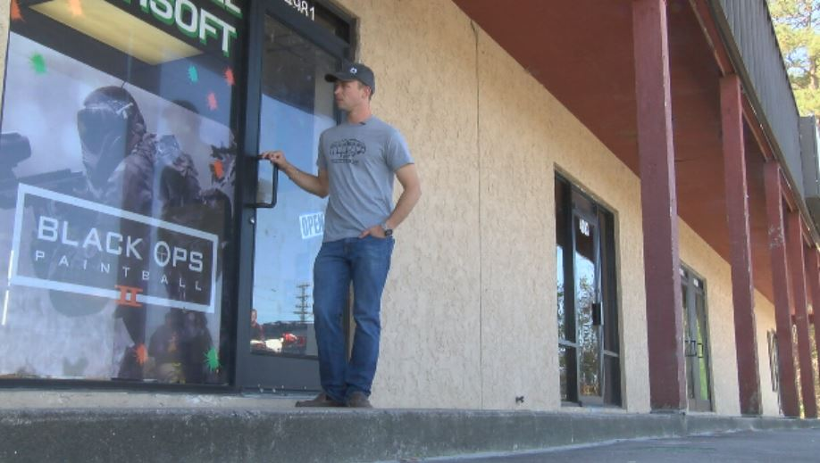 Black Ops Paintball store owner, Nathaniel Gienger, says they were robbed early Sunday morning.  He says the thieves broke their front door, which is now temporarily replaced, and made off with more than $4,000 worth of merchandise (Liz Cooper/WPDE
