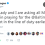 'PRAYERS UP' | Social media fills with support for Baltimore officer