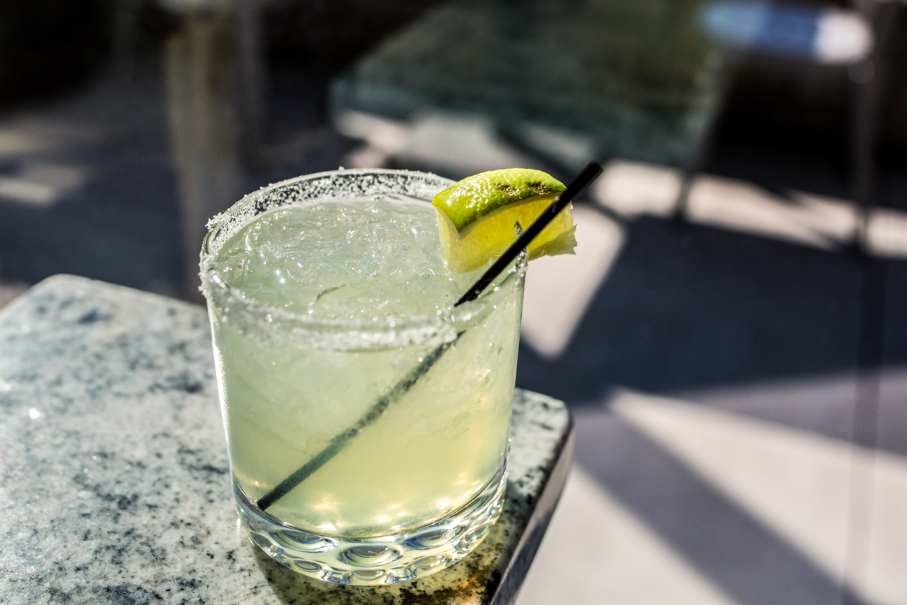 Quintana: Lunzaul Blanco, triple sec, lavender simple syrup, and fresh lime juice served in a salt rimmed rocks glass / Image: Catherine Viox{ }// Published: 11.10.19