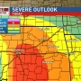 Severe storms likely today